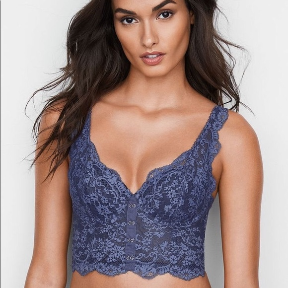 216d81d31839c2 Victoria s Secret Lace Hook-and-eye Long Line Bra
